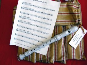 Recorders with music, by Dame Helen of Greyfells.