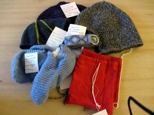 Hats and socks, by Lady Kaðlín Konálldottir.