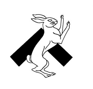 Populace Badge Hare B&W